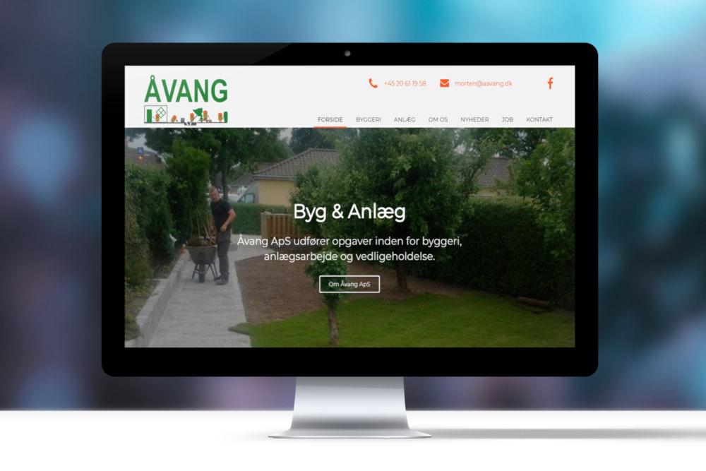 Åvang Byg & Anlæg nyt website