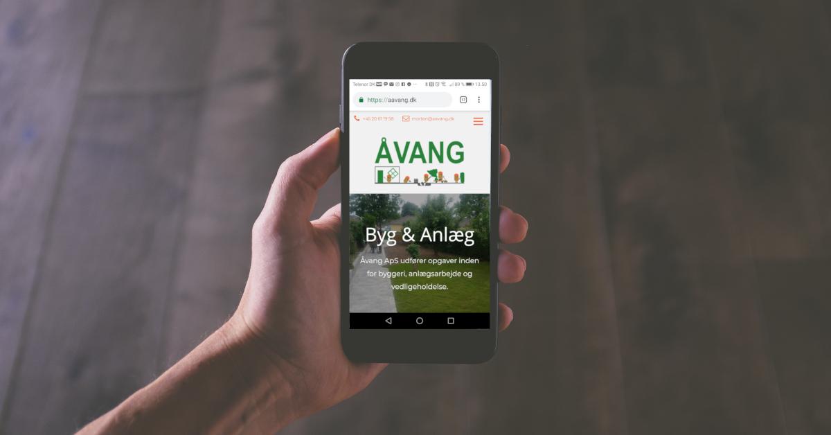 Mobilvenlig hjemmeside nu