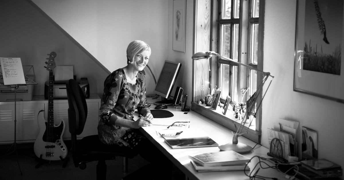 Inge Bang 15 år som webdesigner. Foto Kirstine Mengel.