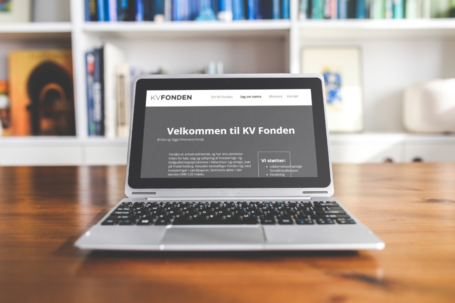 KV Fonden old website